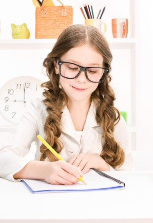 bright picture of learning elementary school student photo