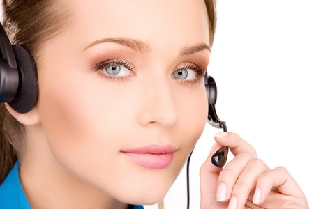 bright picture of friendly female helpline operator Stock Photo - 6945609