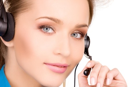bright picture of friendly female helpline operator Stock Photo - 7010343