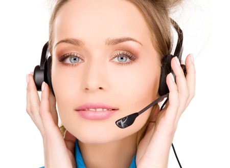 bright picture of friendly female helpline operator Stock Photo - 7010513