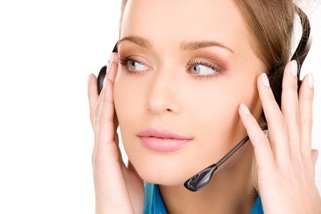 bright picture of friendly female helpline operator Stock Photo - 7070921