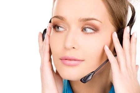 bright picture of friendly female helpline operator Stock Photo - 7070921