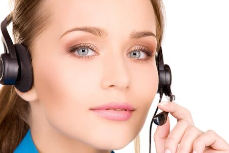 bright picture of friendly female helpline operator Stock Photo - 7070962