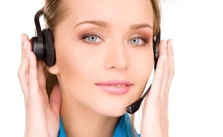 bright picture of friendly female helpline operator Stock Photo - 7218352
