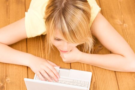 picture of teenage girl with laptop computer Stock Photo - 7366466