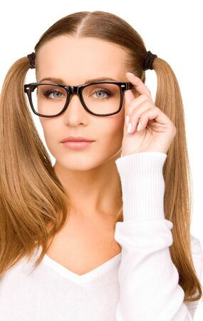 lovely businesswoman: bright portrait of a young attractive businesswoman Stock Photo