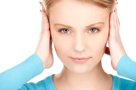 picture of woman with hands on ears Stock Photo - 7521924