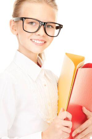 imagen de un estudiante de escuela primaria con carpetas  Foto de archivo - 7555193