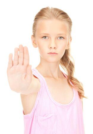 weta: jasny obraz Nostalgia Girl przedstawiajÄ…cy znak stopu