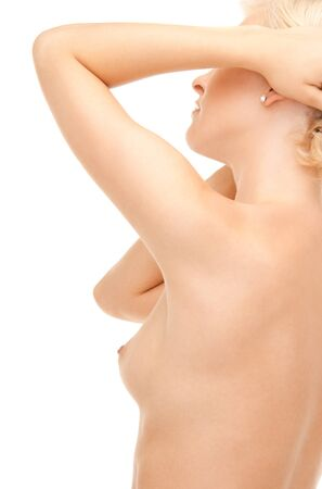 bright picture of beautiful topless woman over white Stock Photo - 7885783
