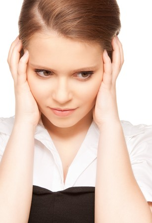 bright picture of unhappy teenage girl face Stock Photo - 7886159