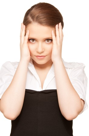 bright picture of unhappy teenage girl face Stock Photo - 7956803