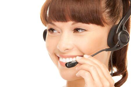 bright picture of friendly female helpline operator Stock Photo - 7956806