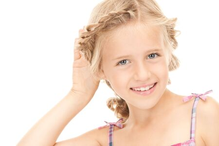 bright picture of lovely girl listening gossip Stock Photo - 7956827