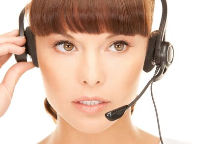 bright picture of friendly female helpline operator Stock Photo - 8015943