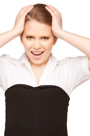 bright picture of unhappy teenage girl face Stock Photo - 8016070