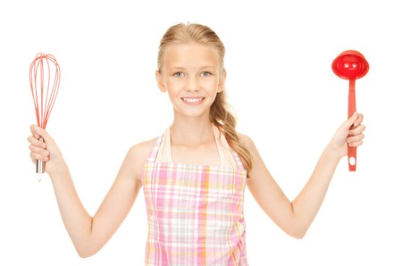 picture of little housewife with red ladle photo