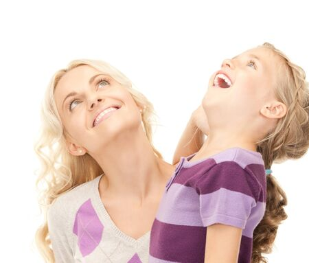 preteens girl: bright picture of happy mother and child