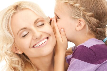 bright picture of happy mother and child photo