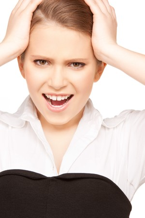 bright picture of unhappy teenage girl face Stock Photo - 8072145