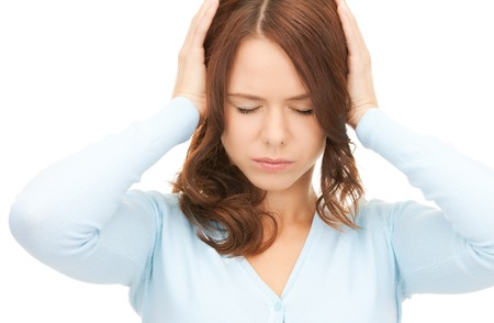 picture of woman with hands on ears Stock Photo - 8072134