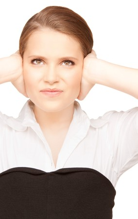 bright picture of unhappy teenage girl face Stock Photo - 8072861