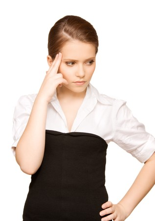 bright picture of unhappy teenage girl face Stock Photo - 8072936