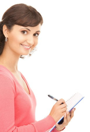 picture of a young attractive businesswoman with notebook Stock Photo - 8072995
