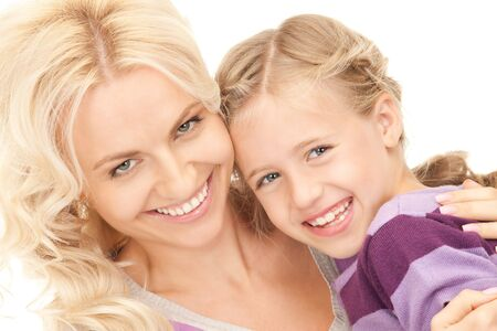 bright picture of happy mother and child