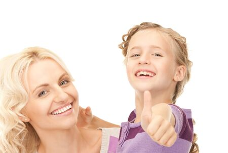 bright picture of happy mother and child (focus on girl) Stock Photo - 8136648
