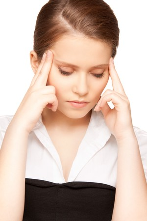bright picture of unhappy teenage girl face Stock Photo - 8136766