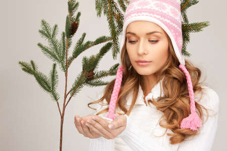picture of beautiful woman in winter hat Stock Photo - 8329031