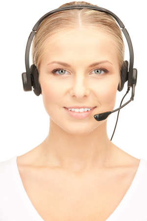 bright picture of friendly female helpline operator Stock Photo - 8324330
