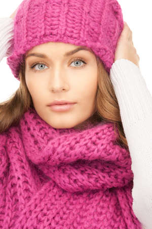 picture of beautiful woman in winter hat photo