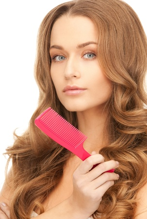 bright picture of beautiful woman with comb Stock Photo - 8441317