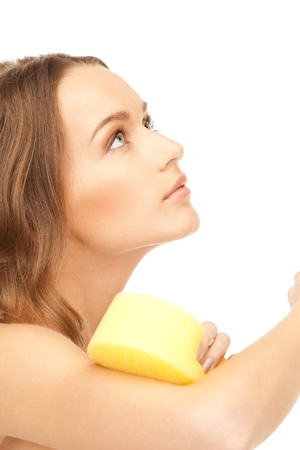 bright picture of beautiful woman with sponge Stock Photo - 8548607