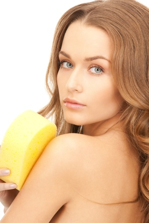 bright picture of beautiful woman with sponge Stock Photo - 8740400