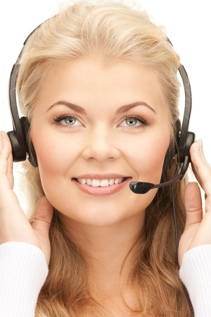 bright picture of friendly female helpline operator Stock Photo - 8740730