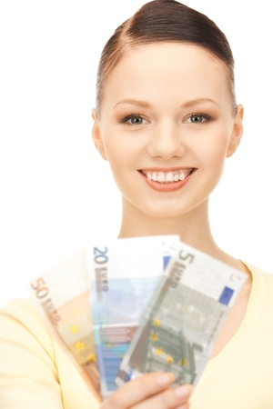 picture of lovely woman with euro cash money Stock Photo - 8868075