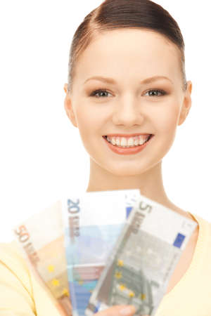 picture of lovely woman with euro cash money  Stock Photo - 8866503