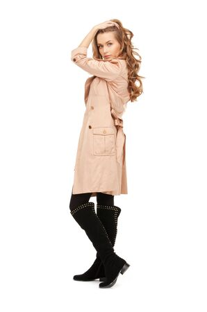 bright picture of lovely woman in coat Stock Photo - 8867433