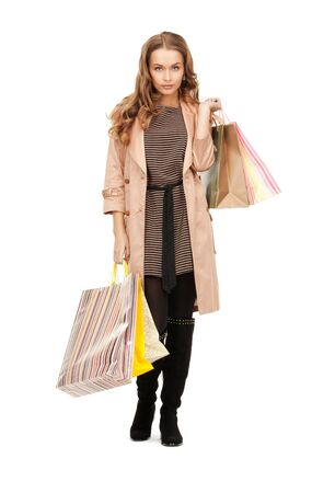 picture of lovely woman with shopping bags Stock Photo - 8867991