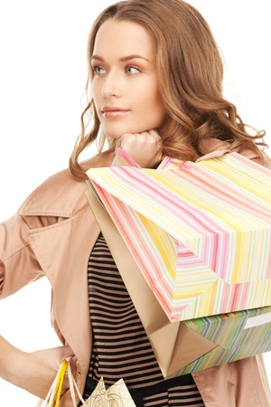 picture of lovely woman with shopping bags Stock Photo - 8867467