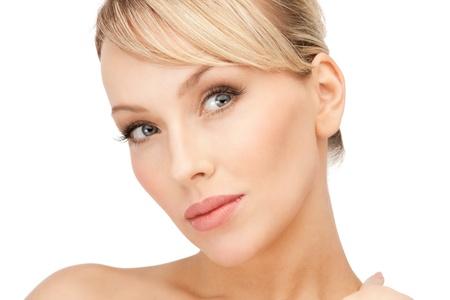 bright closeup portrait picture of beautiful woman Stock Photo - 8866683