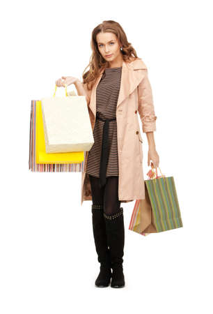 picture of lovely woman with shopping bags Stock Photo - 8981226