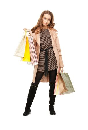 picture of lovely woman with shopping bags Stock Photo - 8986190