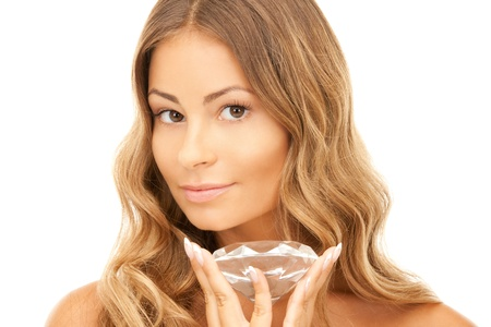 picture of lovely woman with big diamond photo