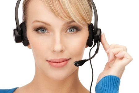 bright picture of friendly female helpline operator Stock Photo - 8982329