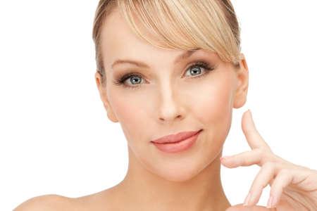 bright closeup portrait picture of beautiful woman Stock Photo - 8986079