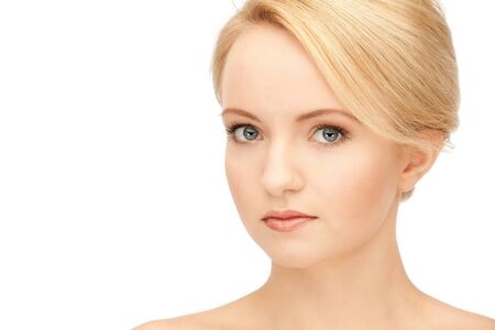 bright closeup portrait picture of beautiful woman Stock Photo - 9046005